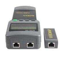 SC8108 Портативный ЖК-дисплей сетевой тестер метр беспроводной LAN Телефон измеритель Кабеля Тестер провода трекер ЖК-дисплей