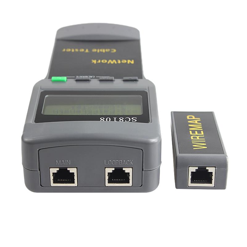 SC8108 Tragbare LCD Netzwerk Tester Meter Wireless LAN Telefon Kabel Meter Tester Draht Tracker LCD Display