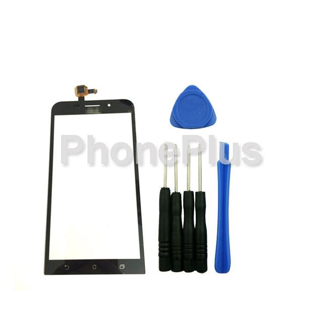 Outer frente touch screen substituição painel de digitador de vidro para asus zenfone max zc550kl