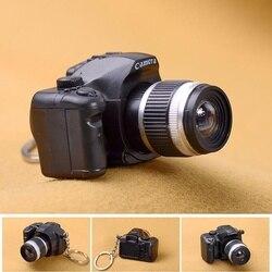 Llaveros de coche de cámara niños juguete de cámara digital LED sonido luminoso colgante brillante llavero bolsa accesorios de juguete Cámara