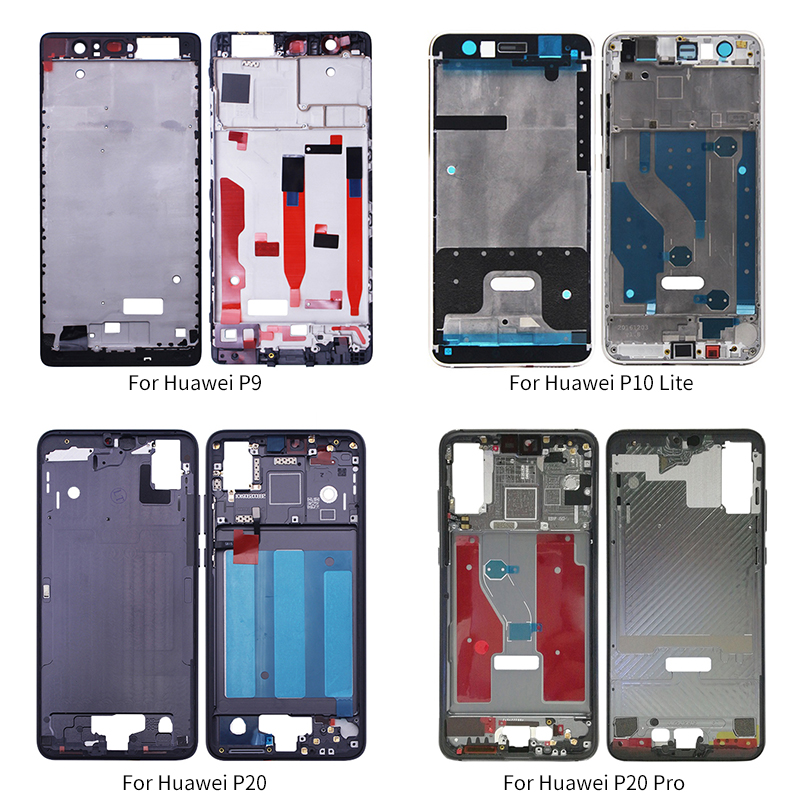 Netcosy For Huawei P20 Pro P10 Lite Middle Frame Front Housing Bezel Cover Replacement Parts For Huawe P9 LCD Frame Board