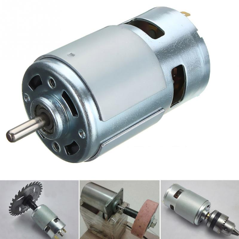 775 DC 12V-24V 2000-15000 RPM Motor Ball Bearing Large Torque High Power Low Noise High Speed Motor large torque high power motor 775 dc motor 12v 300w 18500 rpm diy