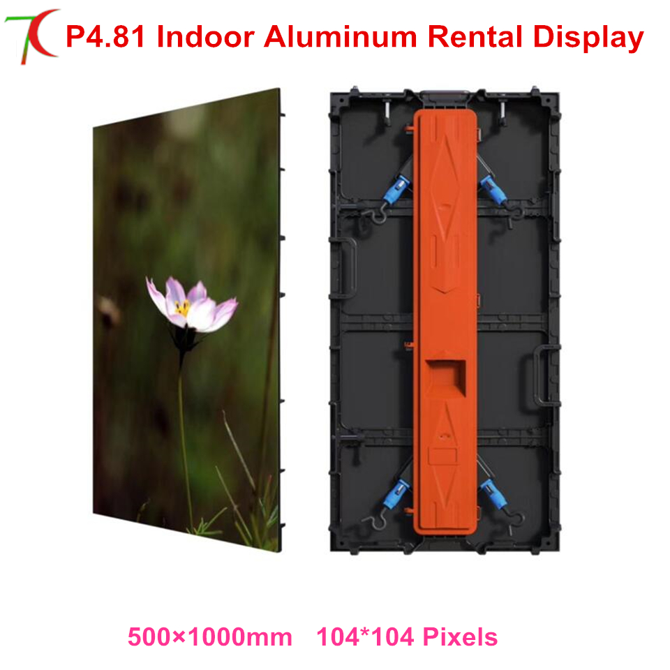 P4.81 Outdoor IP65 500*1000mm Die-casting Aluminum Equipment Cabinet  For Rental , SMD,16scan