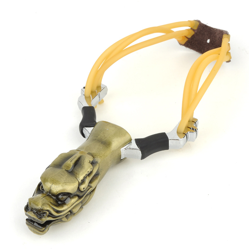 Alloy Slingshot, Outdoor Hunting Fishing Shooting A Slingshot. Outdoor Shooting Toys, Children's Classic Toys.