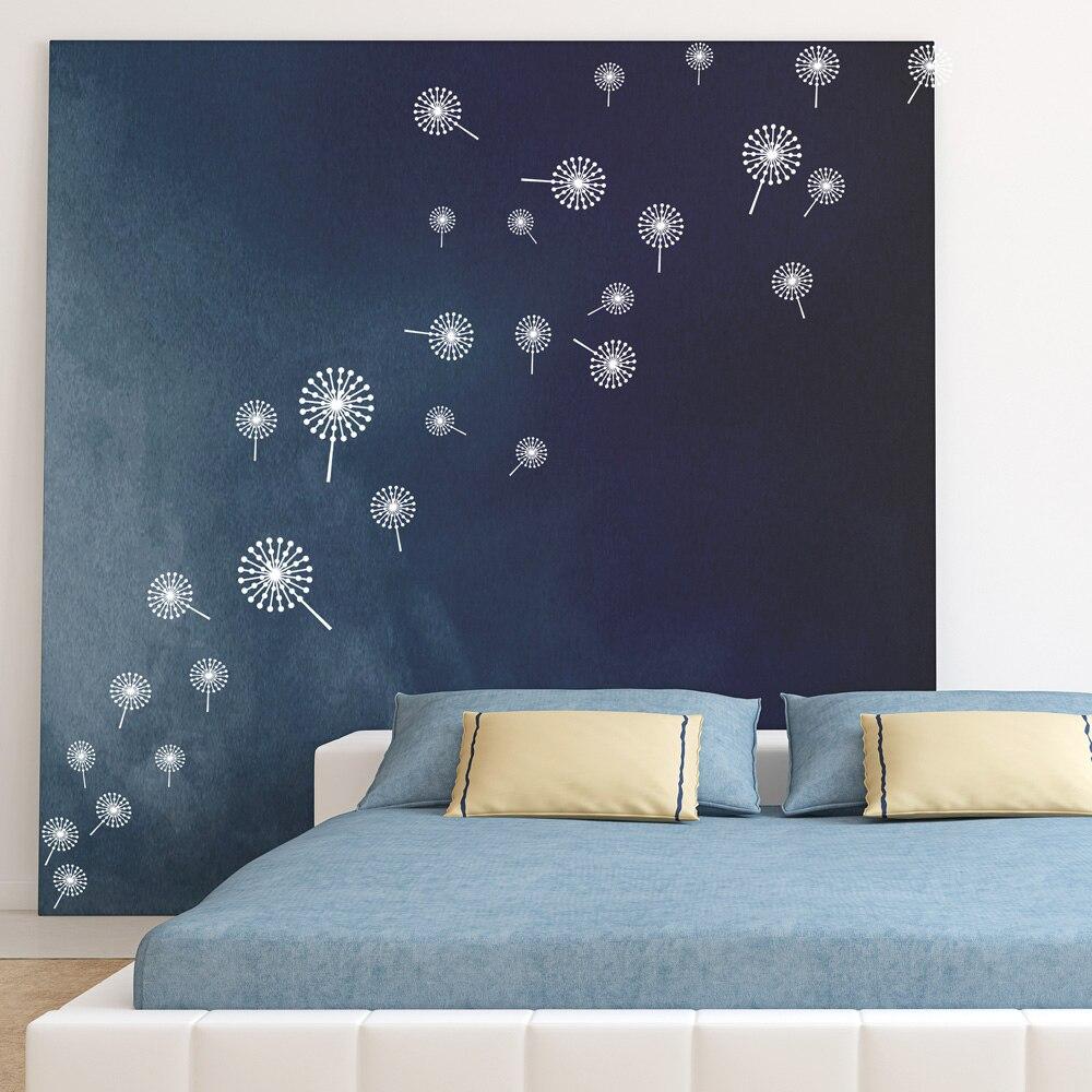 Darmowa Wysyłka DIY Sprzedaż Hurtowa I Detaliczna Home Garden Wall Decor Naklejki Dekoracje Ścienne Winylowe Wymienna Art mniszka lekarskiego, P-23