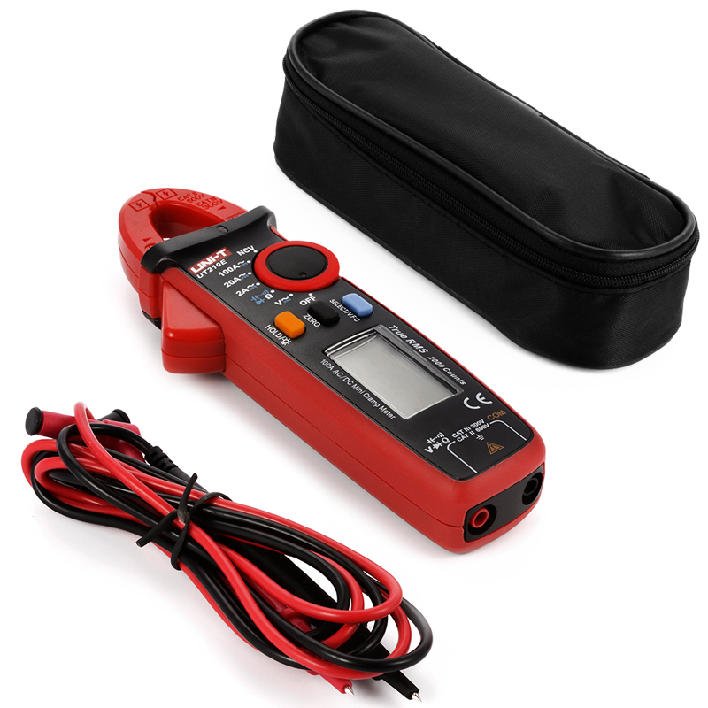 ФОТО 1pcs New Original UNI-T Mini Digital Clamp Meter UT210E Ture RMS Auto Range 2000 Count LCD Display Multimeters