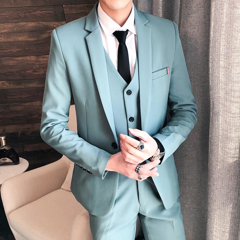 Slim Affaires Hommes Costumes Pantalon menthe Mode marine Grille Bleu De 2018 bourgogne Printemps Mariage veste Noir Classiques Style Fit Costume Nouveau Veste Gilet vert 60Pnw7q