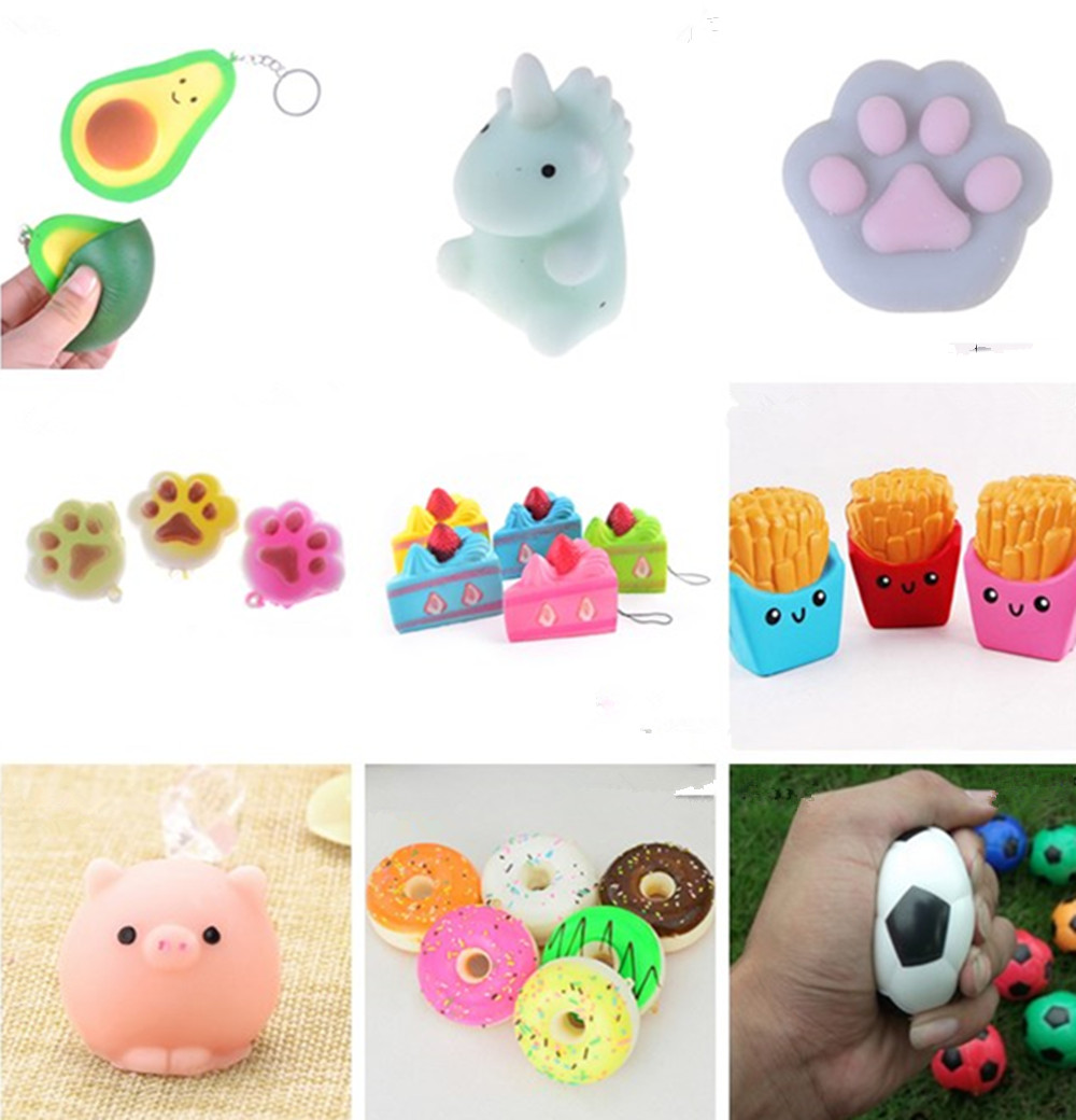 Anti-stress Kawaii Squishies Cute Mochi Gags Practical Jokes Toy Squish Antistress Scented Squishy Animals Toys