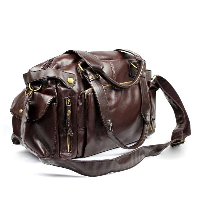 Male Bag England Retro Handbag Shoulder Bag Leather Men Big Messenger Bags Brand High Quality Men's Travel Crossbody Bag XA158ZC 4