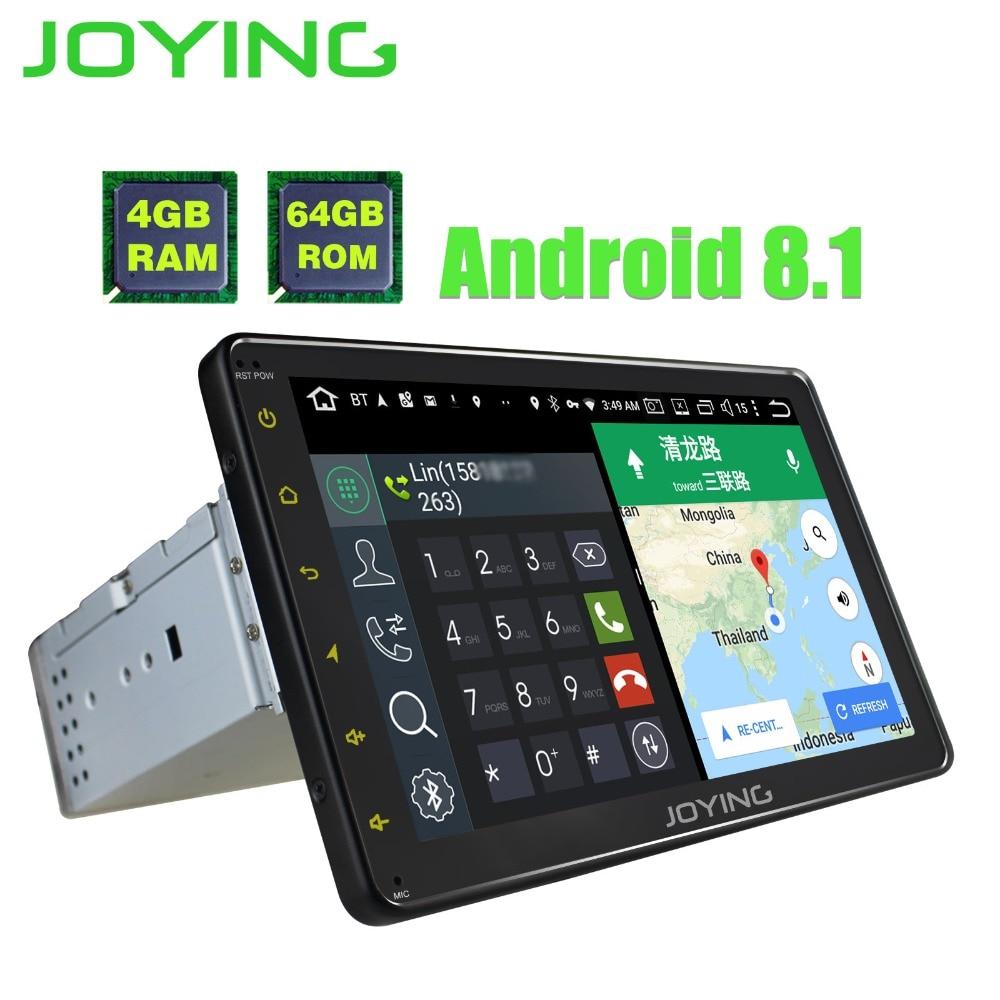 JOYING 1 din 8 ''schermo di tocco del android 8.1 autoradio stereo bluetooth audio unità di testa GPS registratore a nastro con carplay DSP 4 GB di RAM