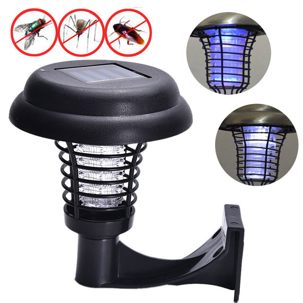 Household Products LED practical  Solar Powered LED Light Pest Bug Zapper Insect Mosquito Killer Lamp Garden Lawn accessories