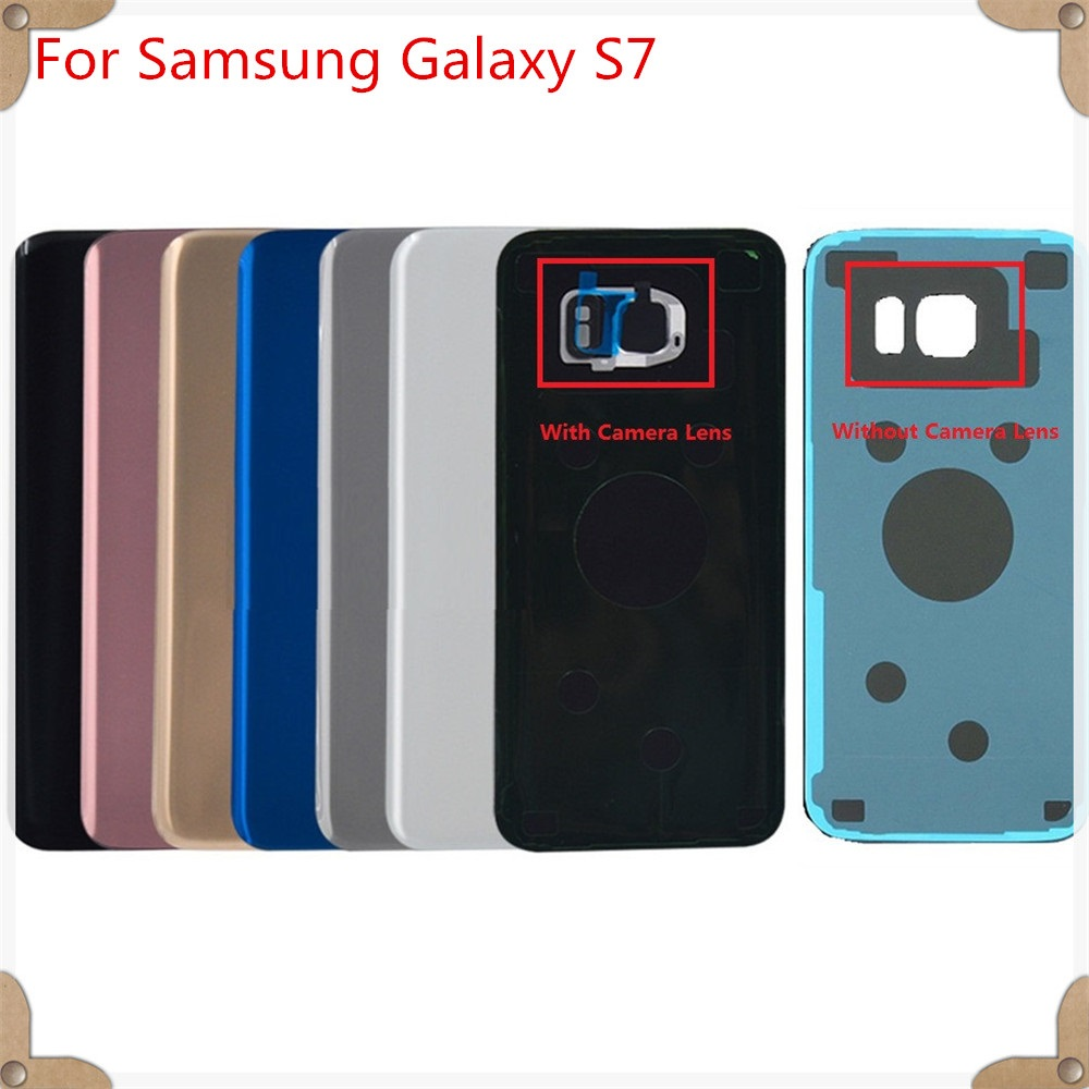 For Samsung Galaxy S7 G930 G930F Battery Door Back Cover With Camera Glass Lens Frame + Adhesive Replacement!! image