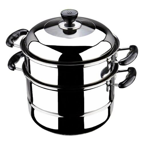 Livraison gratuite cuisson vapeur pot en acier inoxydable casseroles casseroles vapeur soupe pot 30 cm