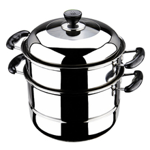 free shipping cooking steamer pot stainless steel cookware pots steamer soup pot 30cm