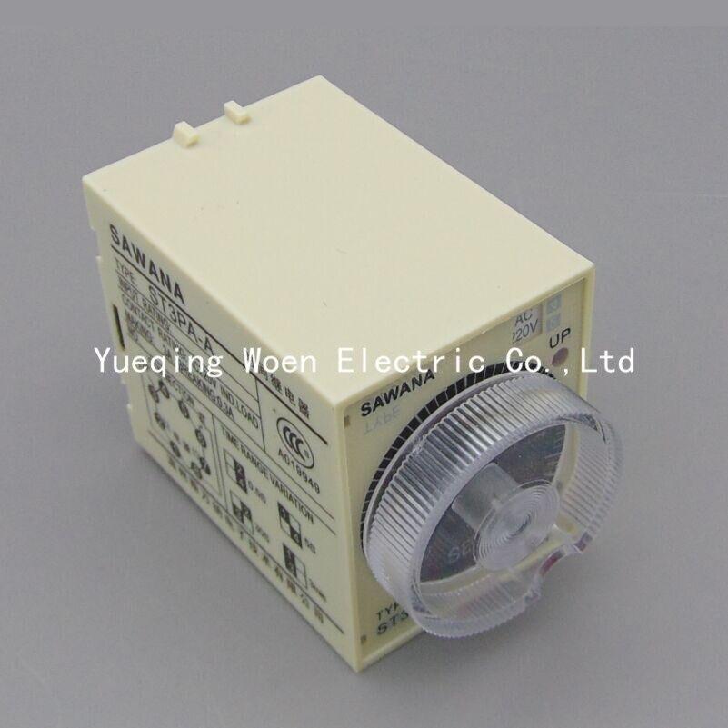 ST3PF series time relay / timer ST3PF 10min (AC 220V 110V AC / DC 24V 12V alternative) Power off delay type us ab relay 700 hnc44az48 0 1s 10min dc48v