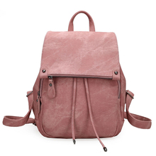 SUDS 2019 Preppy Style Women Backpack Designer High Quality Female Casual PU Leather Hasp Backpack For Teenage Girls School Bags