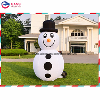 Festival decoration xmas toy 2m height Inflatable christmas snowman with air blower