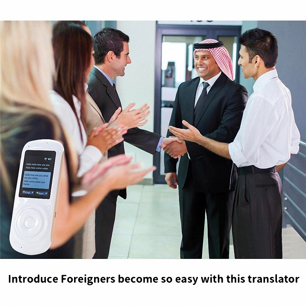 Intelligent Language Voice Translator WiFi Instant Portable Translator 2 Way Real-Time Translation Traveling Meeting Translator 16