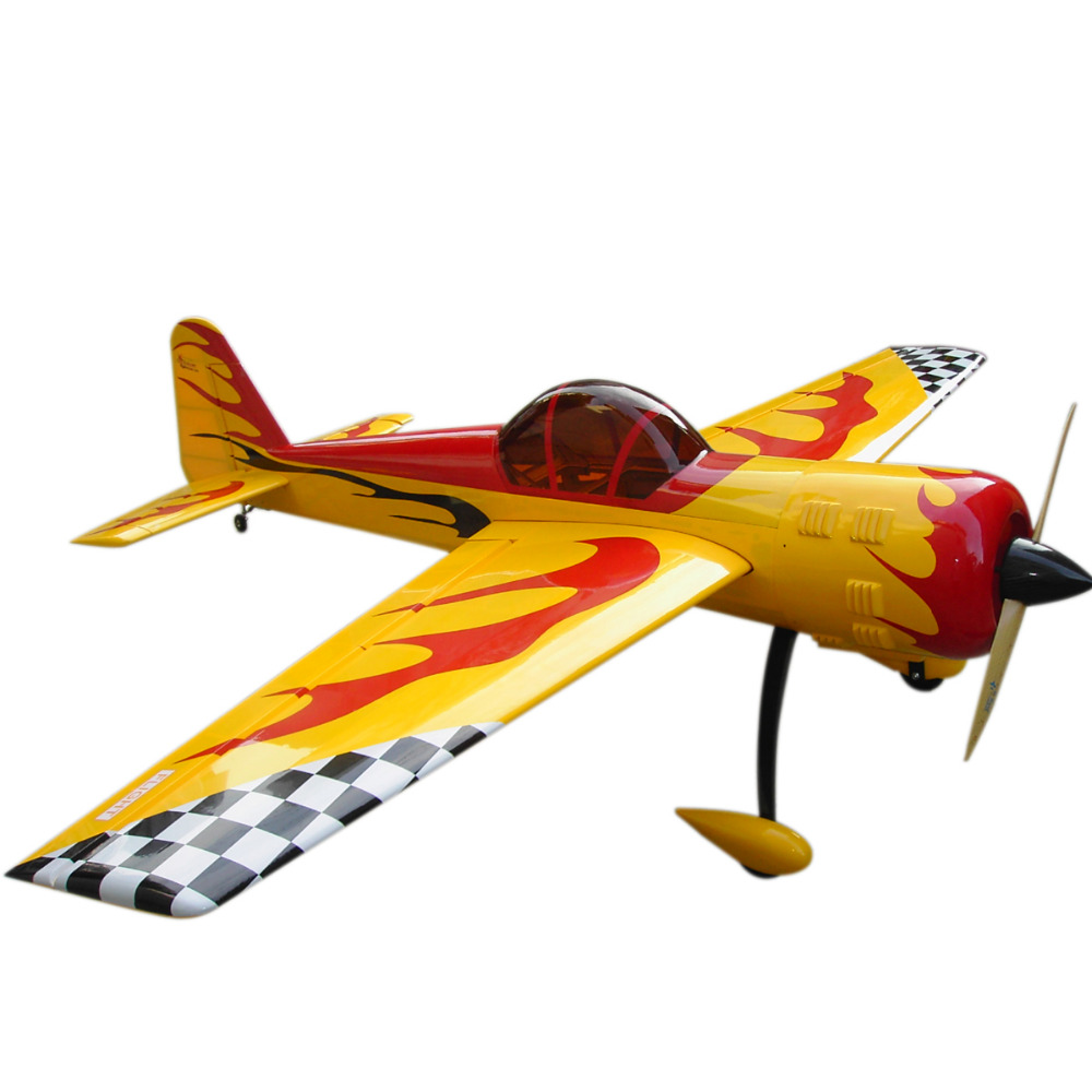 Radio Controlled Balsa Wood RC Airplane YAK-55 Flight Model Gas 50cc 3D Aerobatic 86/ 2200mm image