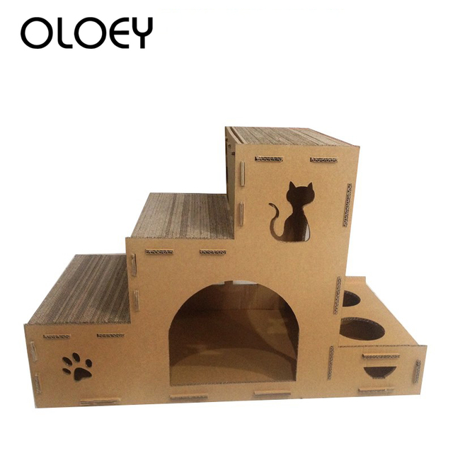 Cat Toy House Big Cat Climbing Furniture Scratch Post Cat Jumping Toy with Ladder for Kittens Pet House Play Toys Pet Product