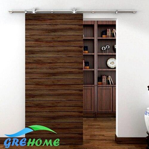 pies de acero inoxidable interior puertas de madera correderas granero hardware kitschina