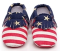 New Striped estrelas impresso sapatas de lona infantis Borla mocassins macio moccs newborn primeiro walkers do bebê infantil crianças prewalker Sapatos