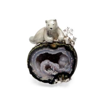 Natural Agate Fine Jewellery Silver Necklace Animal Pendant8