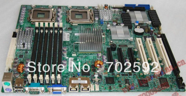 Original da Placa de Servidor X7DCL-3 apoio Xeon série 54 771 pinos CPU com 8 sas e sata 6 conector