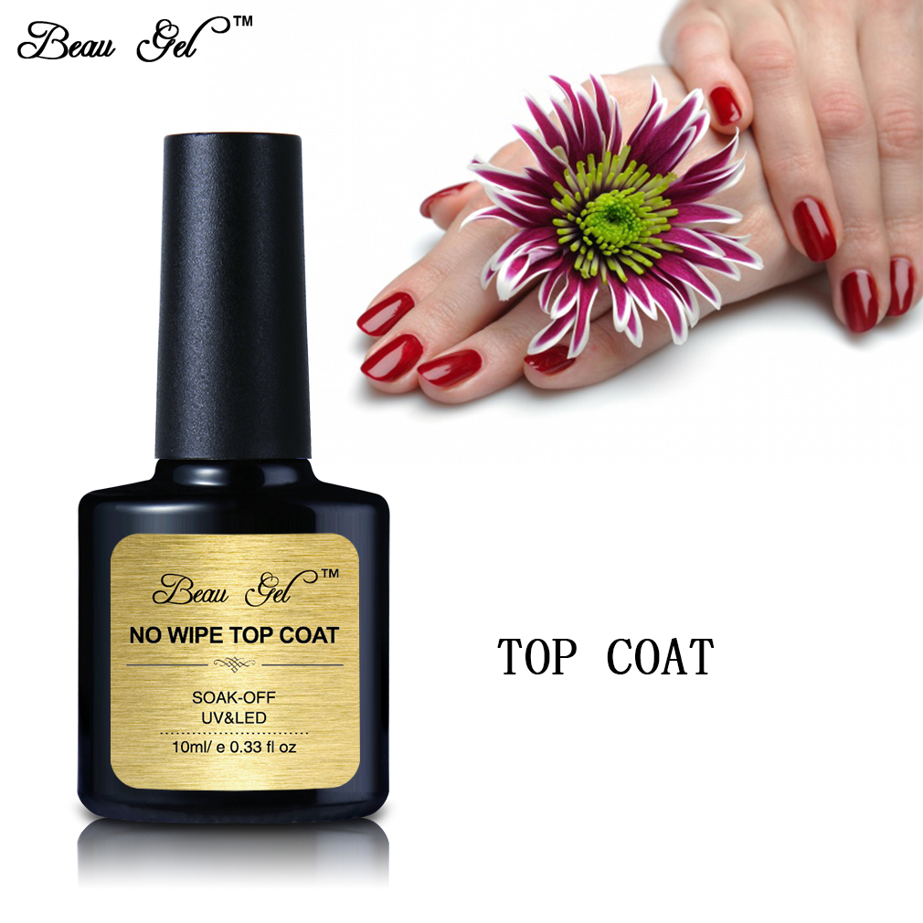 Beau Gel 10ml / pc Niet-reinigende Topcoat UV Gel Nagellak Langdurig - Nagel kunst