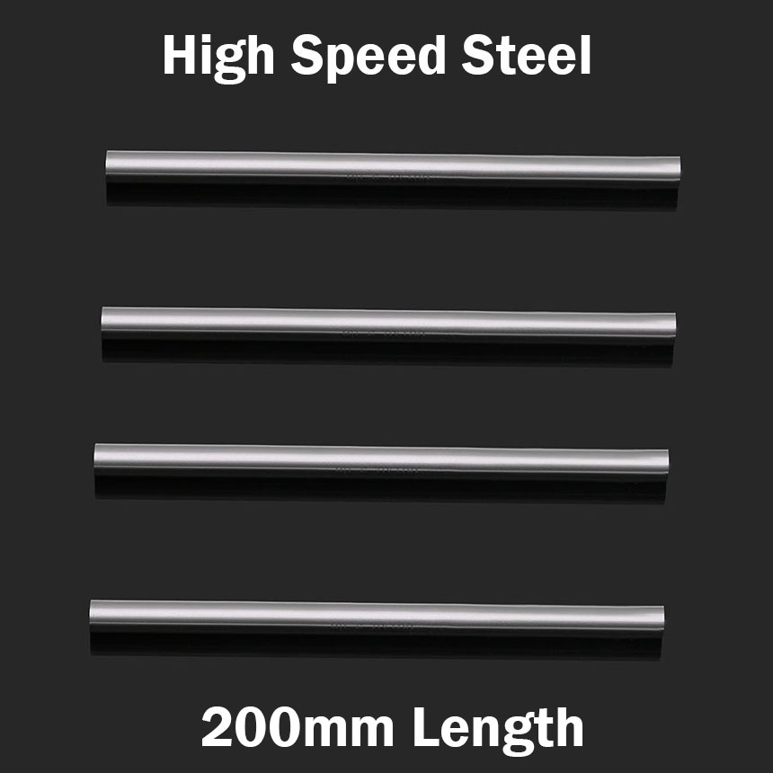 4.5mm 5mm 5.5mm 6mm OD 200mm Length High Speed Steel HSS Jobber Drill Bit Boring Round CNC Cutter Turning Lathe Tool Bar Rod