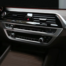 ABS Matte For BMW 5 Series G30 2017 2018 Car air conditioner Outlet panel cover trim Interior accessories styling 1pcs auto body outlet air conditioner automobile decorative chromium car styling sticker strip 11 12 13 14 15 16 17 for bmw 5 series