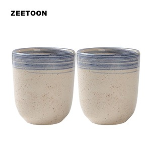 2PCS/Lot 150ml Master Cup Vintage Ceramic Coarse Pottery Hand Painted Cups Drinkware Espresso Mug Coffee Milk Mugss Teaware Art(China)