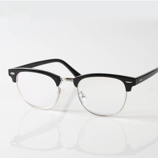 Chashma Brand Half Rimmed Eyewear Large Frame Women and Men Classic Design Reading Glasses
