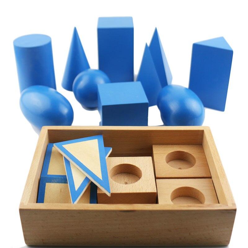 Montessori Bébé Jouets Montessori Solides Géométriques Préscolaire Éducatifs Jouets D'apprentissage Pour Les Enfants Juguetes Brinquedos YG1244H