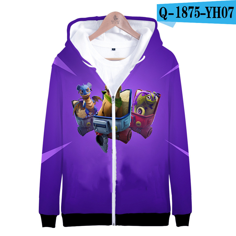 3D Print Hoodie Zipper Fortnited Fortniter Tracksuit 3D Print Game Clothes Boys Battle Royale Clothes Kid Clothes Game Clothings
