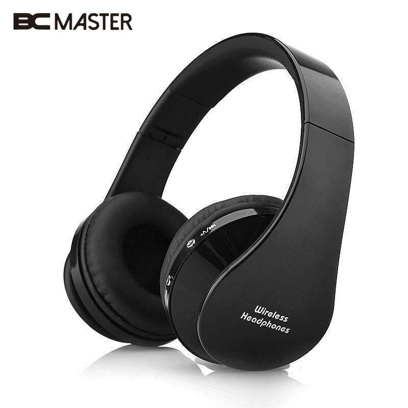 BCMaster Foldable Wireless Bluetooth 3.0 Stereo headphones Earphone