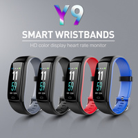 Y9 outdoor Color Screen Smart Bracelet Sports Pedometer Watch Fitness Running Walking Tracker Heart Rate Pedometer Smart Band