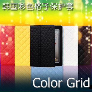 For the new for apple for ipad 2 3 suede ultra-thin holster protective case mount plaid