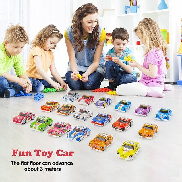 18 pcsMini Pull Back Cars Model Entertainment Baby Toys Racing Truck Vehicle Kids Gift