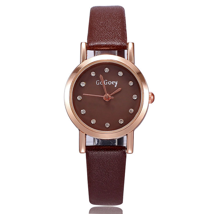 Luxury Gogoey Brand Soft leather watches Women Ladies Fashion Crystal Dress Quartz Wristwatches Relogio Feminino GO021 hot sales geneva brand silicone watches women ladies men fashion dress quartz wristwatches relogio feminino gv008