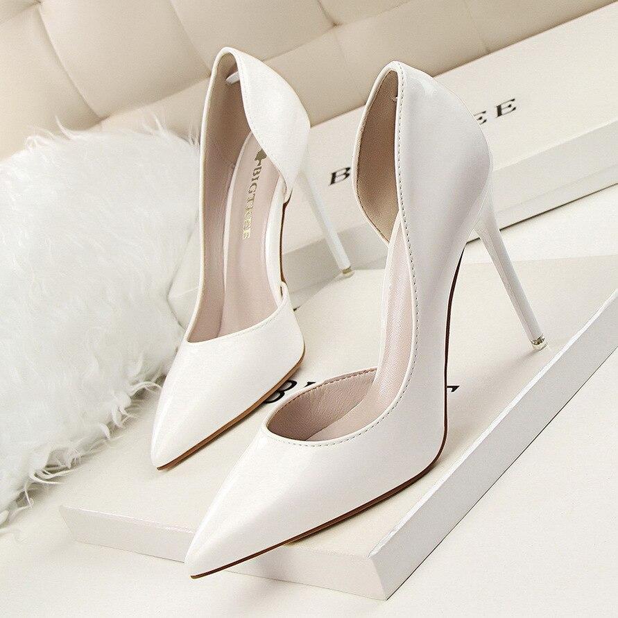 Женские красные Обувь на высоком каблуке 11 см обувь на высоком каблуке свадебные туфли Черный Голый Обувь на высоком каблуке ...