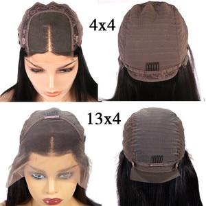 Image 5 - Halo Lady Beauty perruque de cheveux naturels brésilien avec frontal sur dentelle, coupe Bob, lisse, 13x4, partie centrale, 150% de densité, vente en gros
