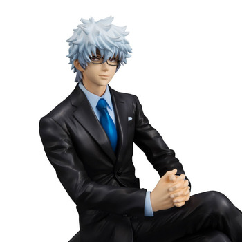 NEW hot 15cm GINTAMA business suit Sakata Gintoki action figure toys collection doll with box