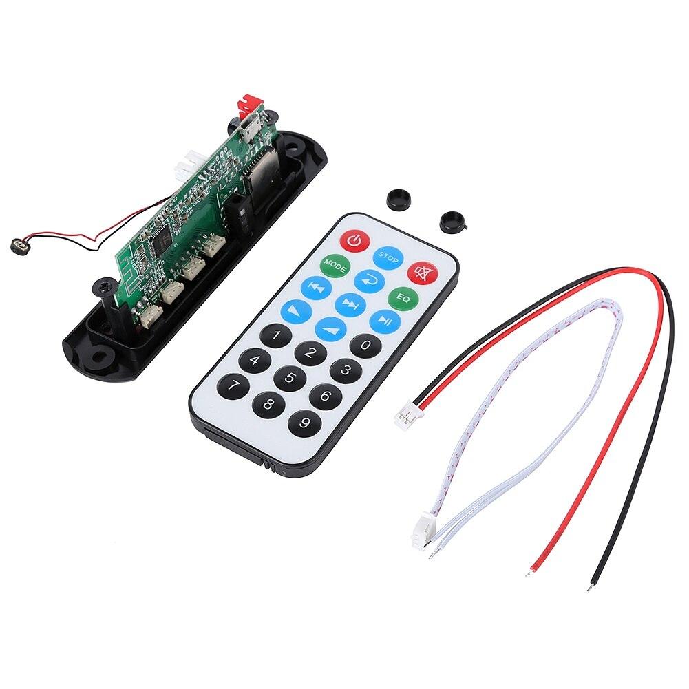 12 В 5 в беспроводной Bluetooth Micro usb-микрофон 3,5 мм AUX FLAC MP3 TF радио WMA декодер плата аудио модуль USB для автомобиля - Цвет: Черный
