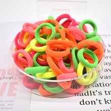 1000pcs Hair Accessories women Rubber bands Scrunchy Elastic Hair Bands Girls Headband decorations ties Gum for hair(China)