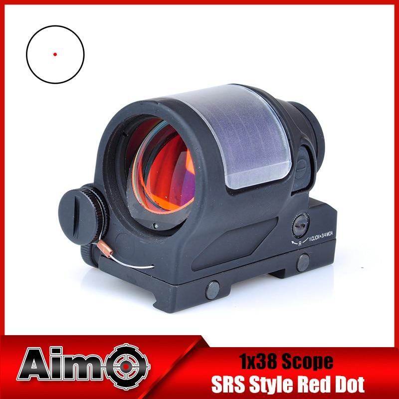 Aim-O Hunting Red Dot SRS Iron Reflex 1x38 Sight Scope Optics Riflescope AO5047 aim o red dot tactical hunting sight scope srs reflex 1x38 iron optics riflescope for airgun ao3040