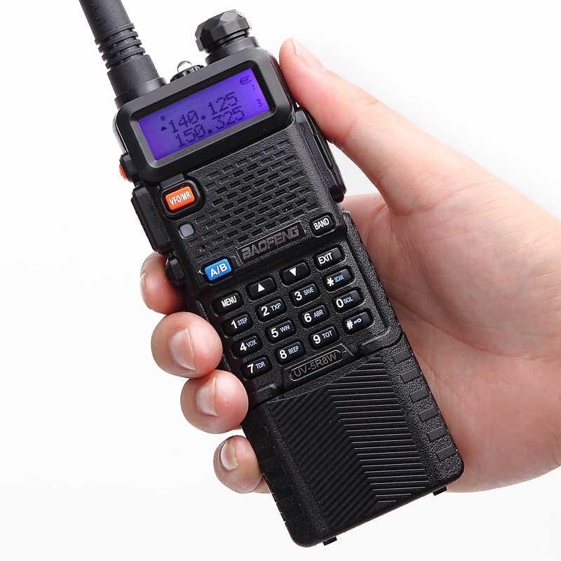 2 uds $TERM impacto Baofeng UV-5R 8W Walkie Talkie profesional estación de Radio CB UV5R transceptor HF VHF UHF UV portátil 5R caza de Radio de jamón