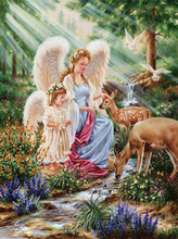LMHY,Diy,Full,Round,Diamond Painting,Angel and Deer,5D,Diamond Embroidery,Mosaics Painting,Home Decorative,Cross Stitch,Crafts
