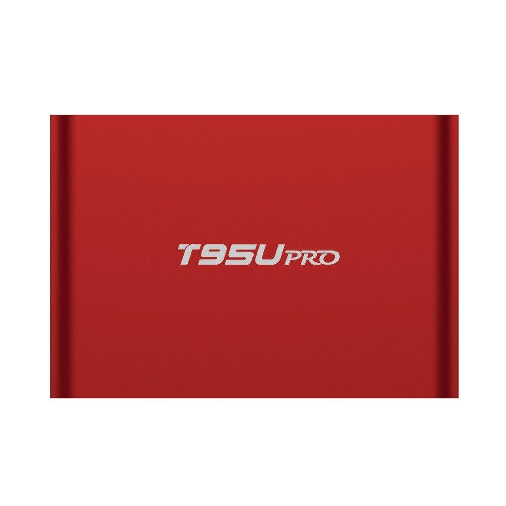 Prix pour T95U PRO 2 GB 16 GB Android 6.0 Smart TV BOX Amlogic S912 Octa Core 64-bits Soutien KD H.265 UHD 4 K Médias lecteur