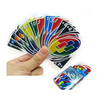 UNO Board Game Waterproof Playing Cards ABS Environmentally Materials Games For Family Friends Party